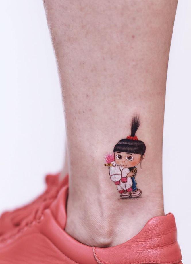 Agnes And Unicorn Tattoo