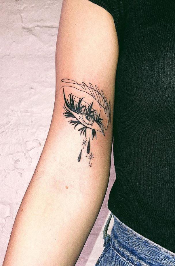 Black & Gray Eye Tattoo