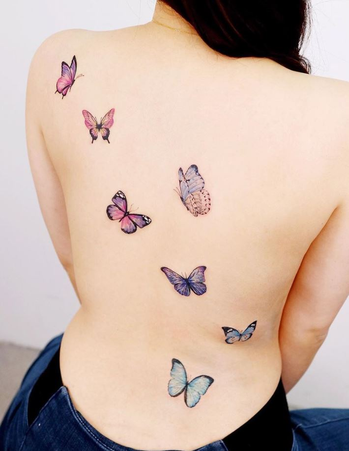 Cute Little Butterflies Tattoo