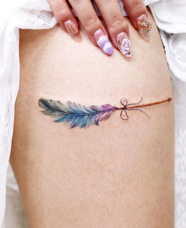 Feather Arrow Tattoo