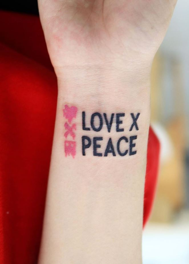 Love x Peace Tattoo