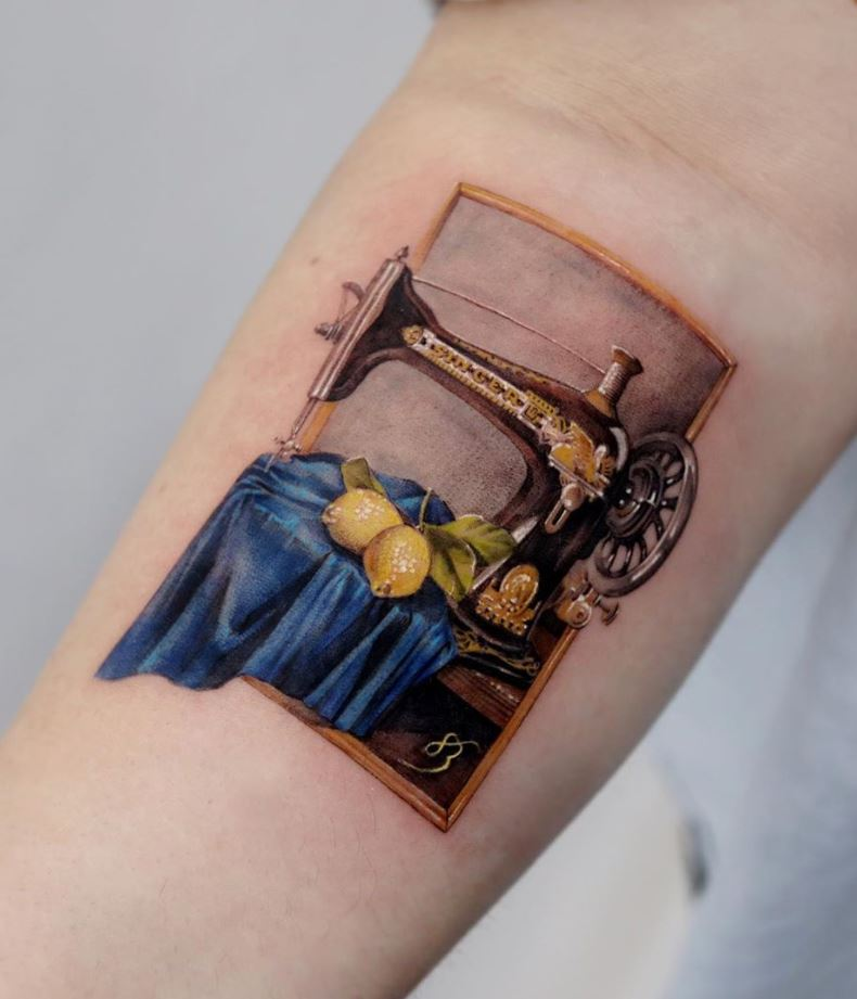 Old Sewing Machine Tattoo
