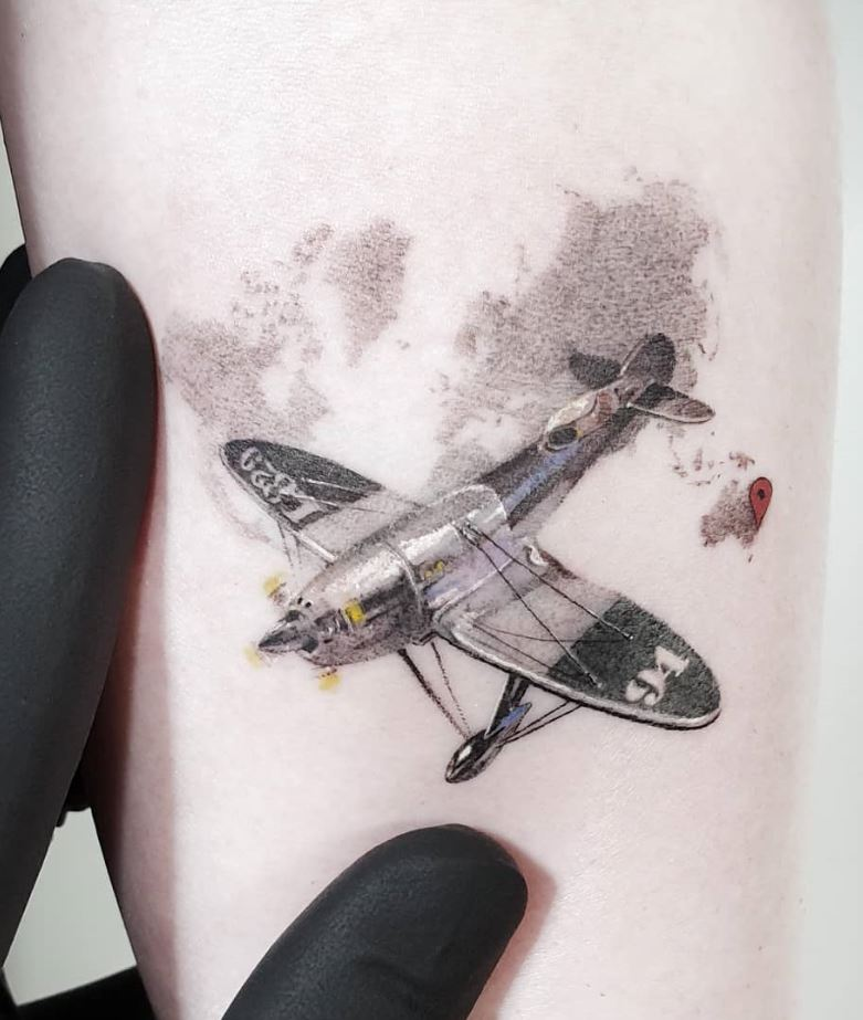Small Plane Tattoo