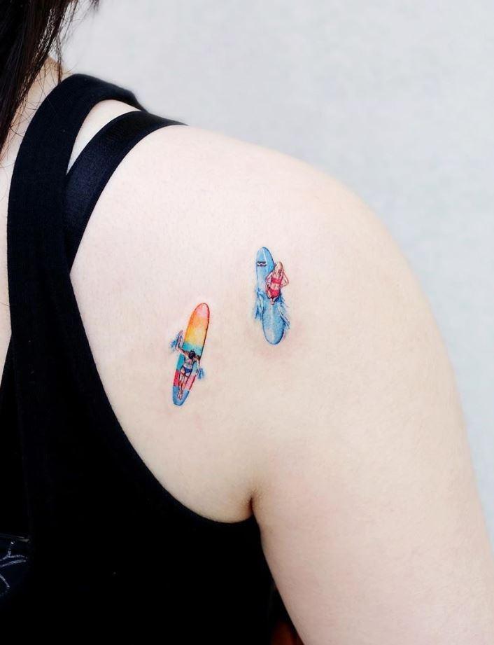 Small Surfers Tattoo