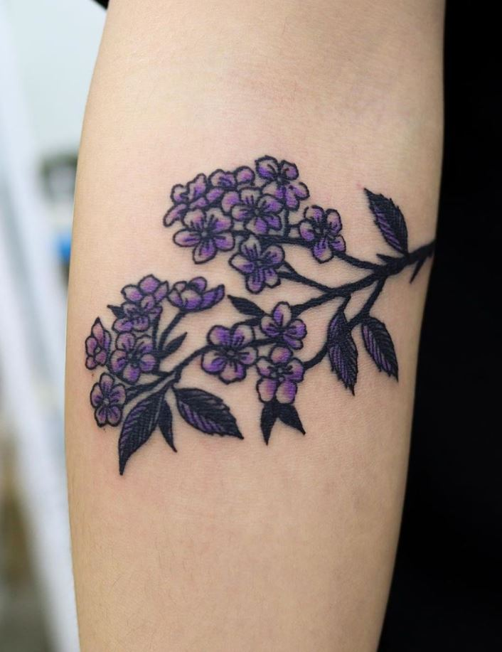 Spiraea Flower Tattoo