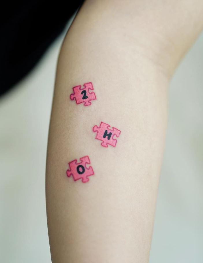 Tiny Puzzle Tattoo