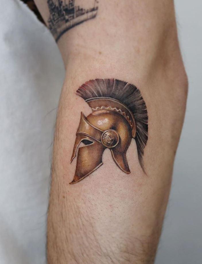 Trojan Helmet Tattoo