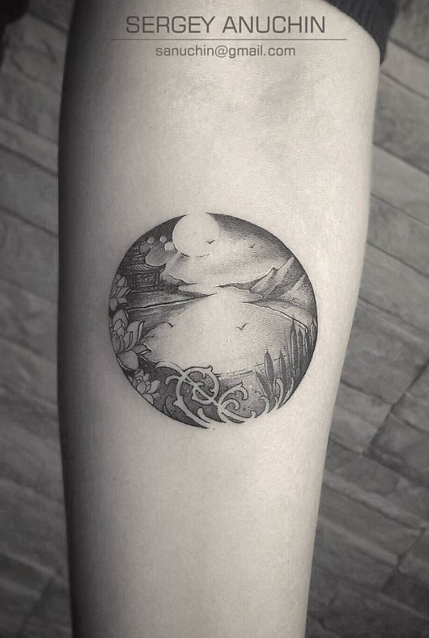 Black And Gray Nature Tattoo