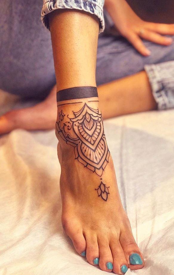 Black & Gray Mandala Tattoo