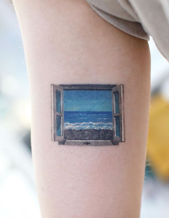 Blue Window Tattoo