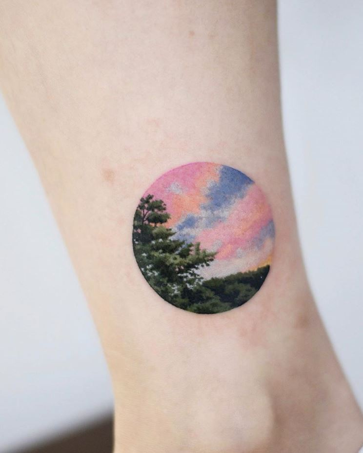 Circle Nature Tattoo