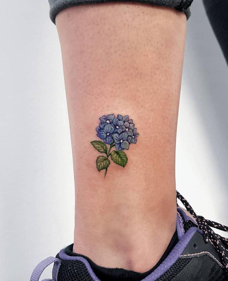 Hydrangea Flowers Tattoo