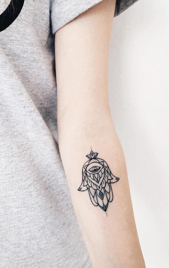 Little Hamsa Tattoo
