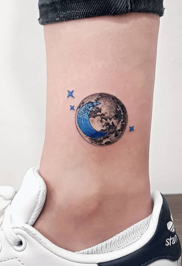 Moon & The Crescent Tattoo