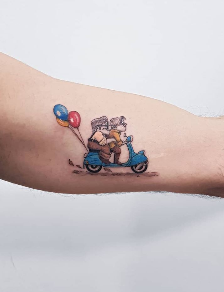 Pixar's Up Tattoo