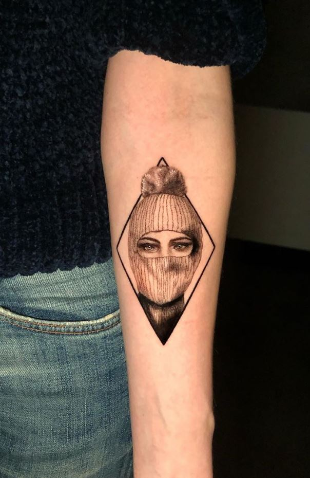 Small Portrait Tattoo
