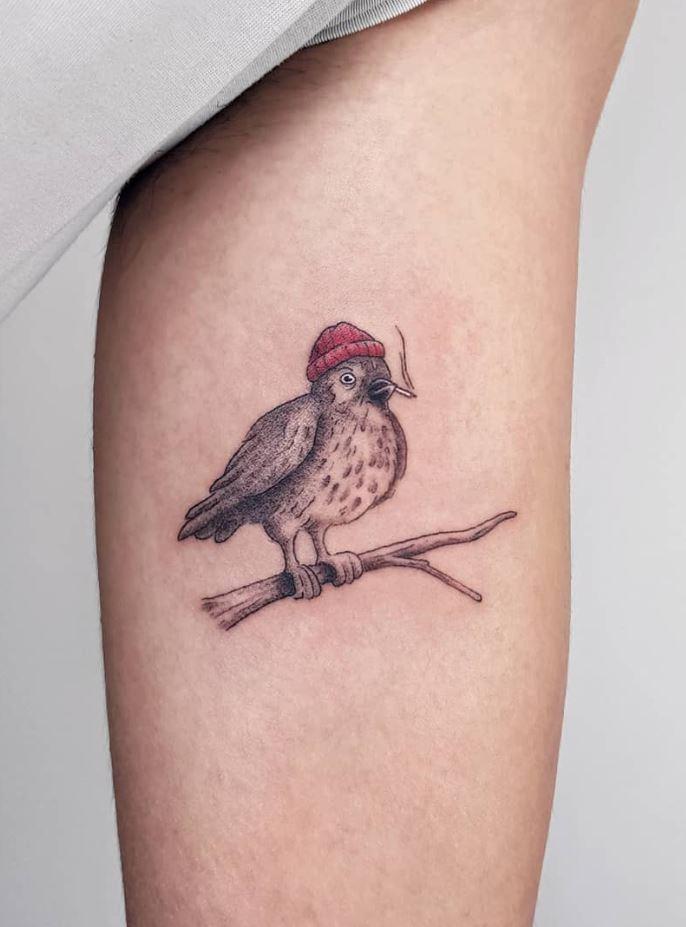 Smoking Bird Tattoo