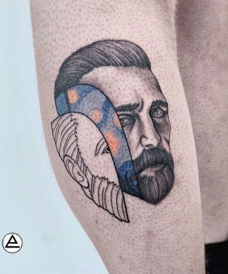 Cool Vincent van Gogh Tattoo