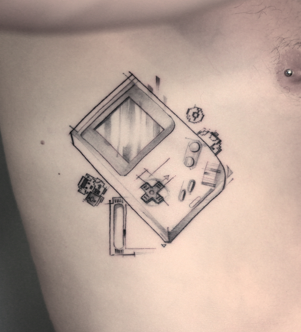 Gameboy Tattoo