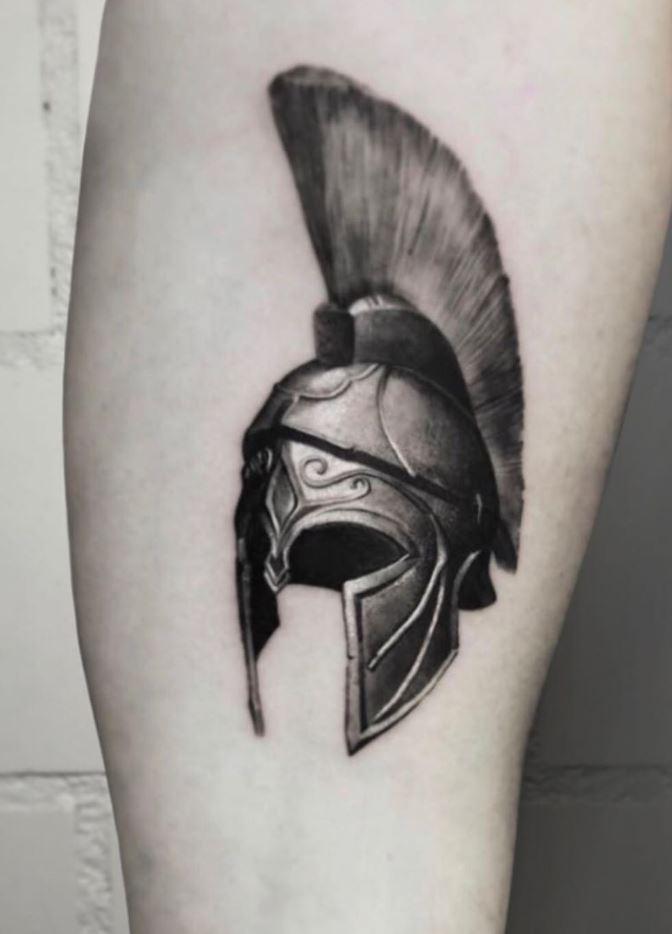Sparta Helmet Tattoo