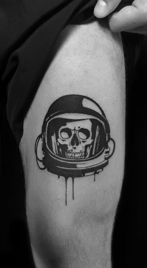 Astronaut Skull Tattoo