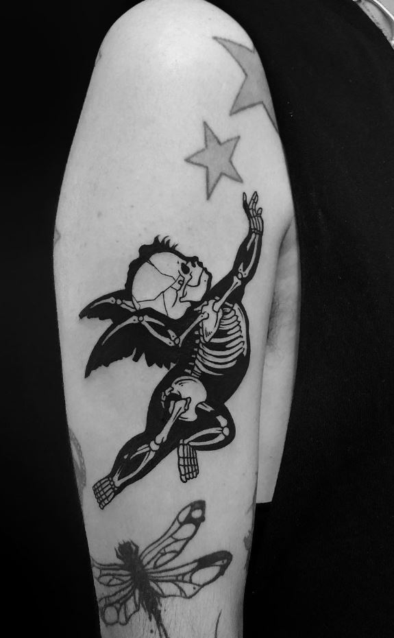 Baby Angel Skeleton Tattoo