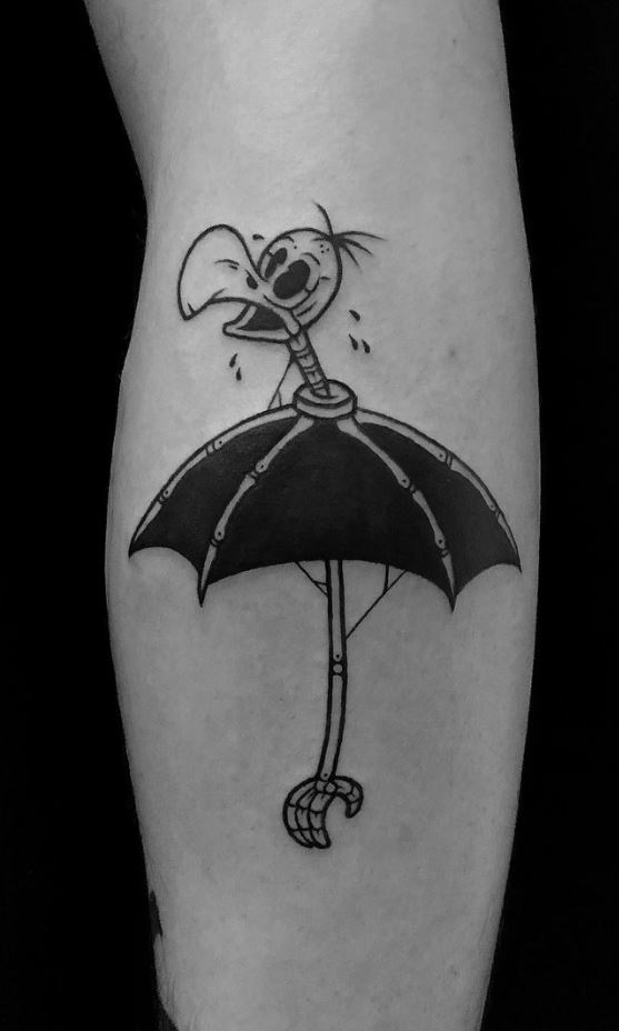 Umbrella Bird Tattoo