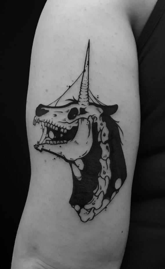 Unicorn Skull Tattoo