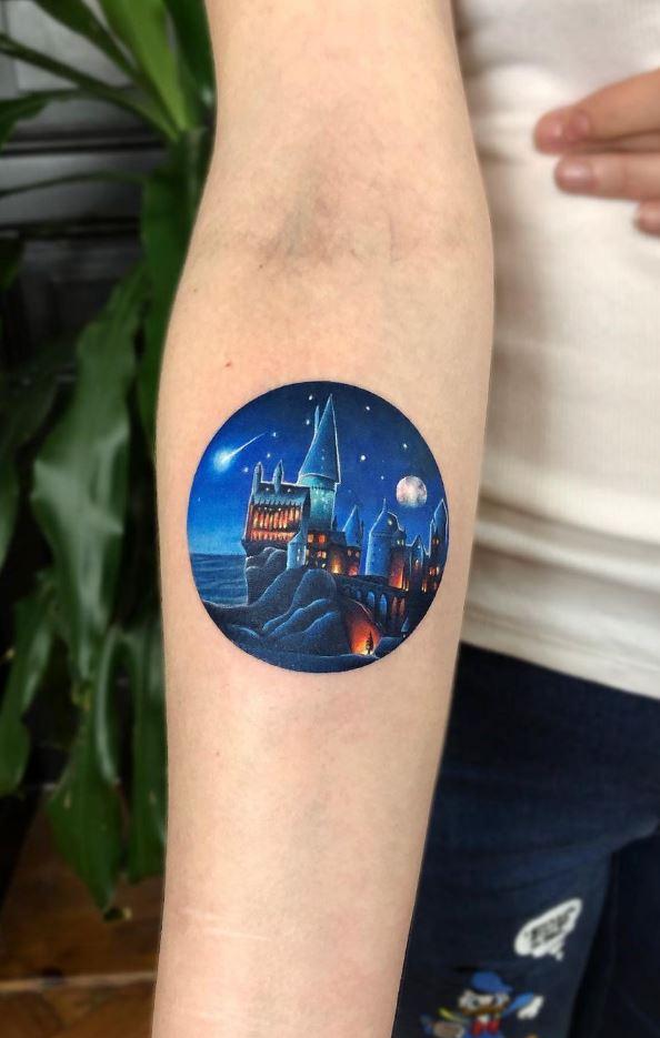 Hogwarts School Tattoo