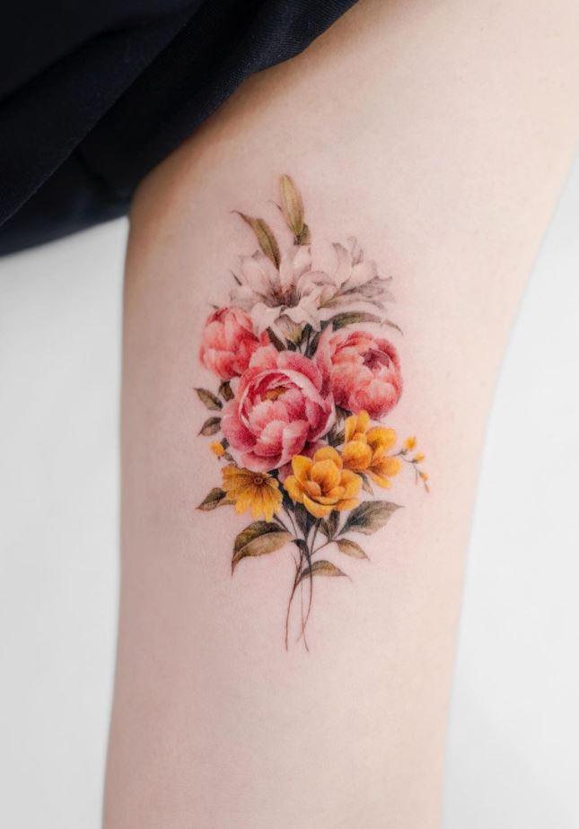 Freesia Flower Tattoo